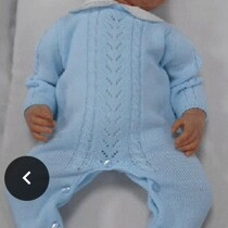 Sardon Blue Knitted Romper