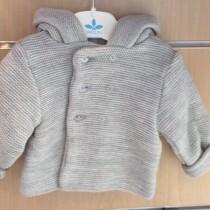 Sardon Light Grey Heavy Hooded  Knit Jacket