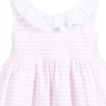 Babidu  Pink Striped Dress and pants set