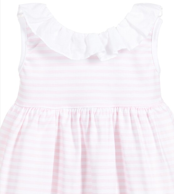 Babidu  Pink Striped Dress and pants set