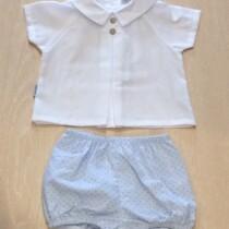 Babidu  2 Piece Shirt & Shorts Set – blue dots