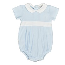 Babidu Blue with White Shortie Romper