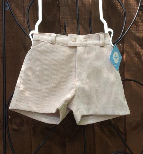 Baby Boys Beige cord  Shorts