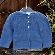 Babidu Baby Denim Blue (Azul) 100% Cotton Cardigan