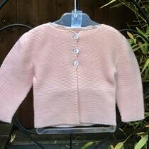 Babidu Baby Peachy Pink 100% Cotton Cardigan