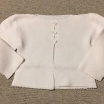 Babidu Baby White 100% Cotton Cardigan