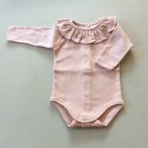 Babidu Frill Collar Vest / Body – Dusky Pink