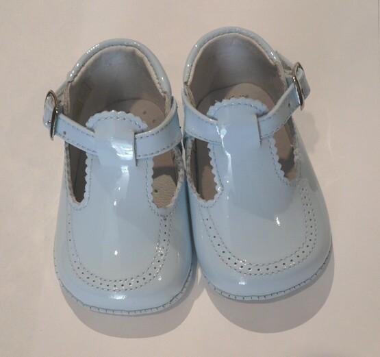 Pretty Originals Baby Boy Blue Pram Shoes