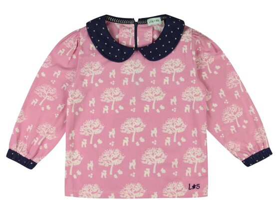 Lilly and Sid – Cute Collar Top- Fairytale Print