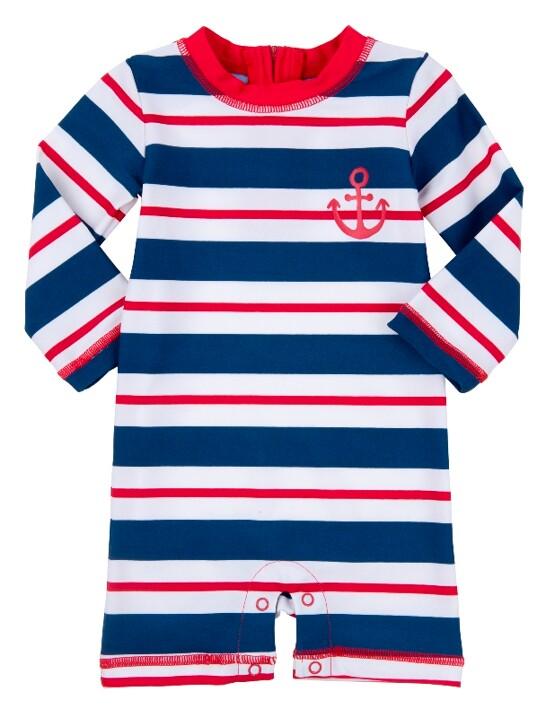 Retro Striped Baby Rash Guard by Hatley