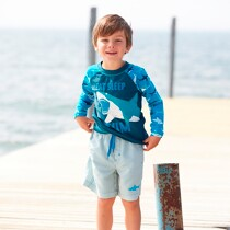 Boys Striped Swim Shorts by Hatley