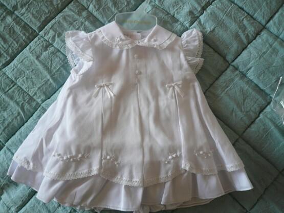 pretty originals white christrening dress pearls