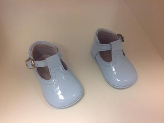 Pretty Originals Baby Boy Blue Pram Shoes UE03180