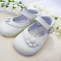 Pretty Originals Baby Girls Ivory Pram Shoes