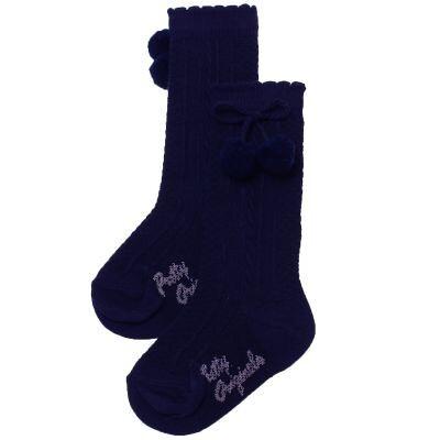 Pretty Originals Pom Pom Socks – Navy