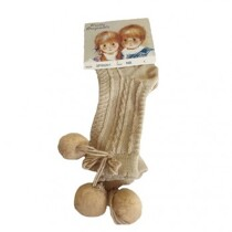 Pretty Originals Pom Pom Socks – Tan
