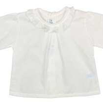 Baby Lightweight Ruffle Cotton Cream Blouse
