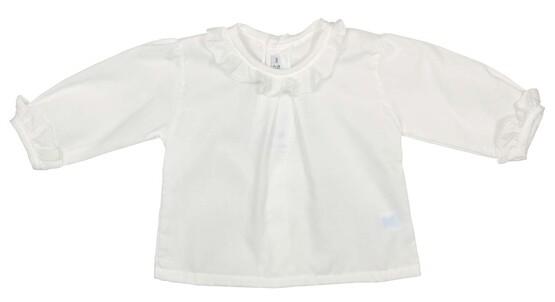 Baby Lightweight Ruffle Cotton Cream Blouse