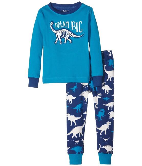 Hatley Boys' Dinosaur Print Pyjamas, Blue by Hatley