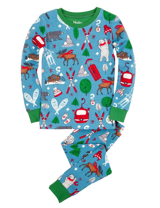 Vintage Ski Pajamas by Hatley
