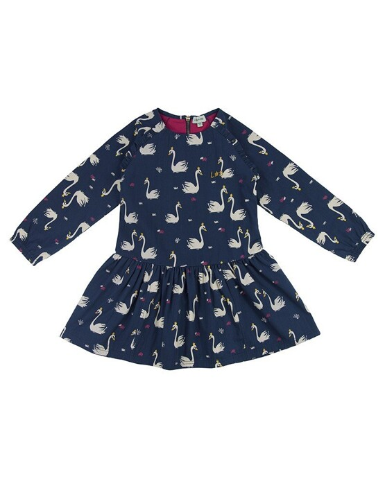 Lilly and Sid – Sweet Swan Woven Dress