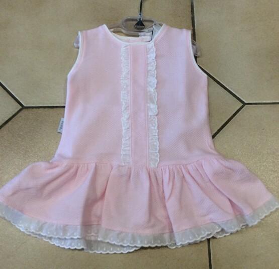 Babidu Pink Dress with White Frill