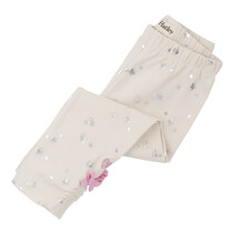 Hatley Baby Girl Cream Leggings with Silver Butterfly
