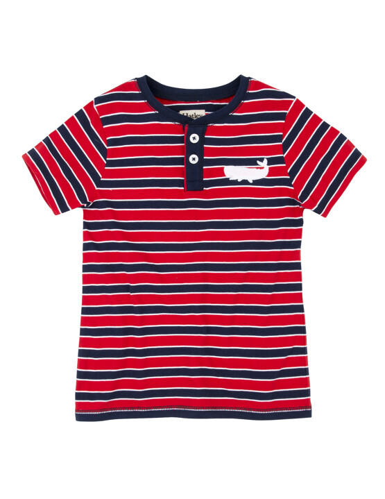 Hatley Red & Navy Striped Tee Shirt