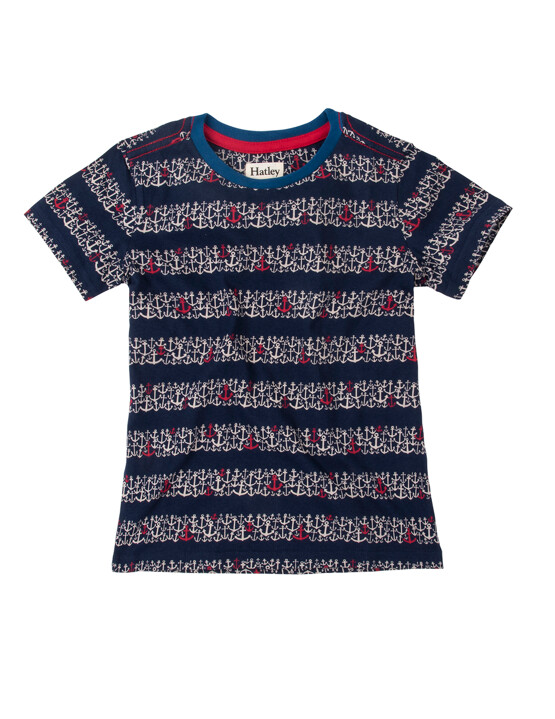 Hatley Anchor Print Tee Shirt