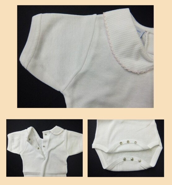 babidu 1181 pink edging Baby Vest