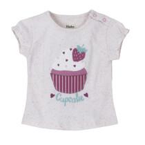 Hatley Baby Girl Pink Cup Cake Tee