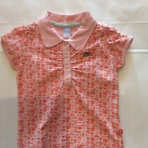 Baby girls Polo T-Shirt  by Baby Face Clothing – Orange