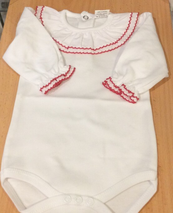 Large Frill Collar Baby Vest / Body / Romper