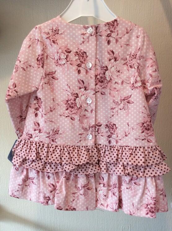 Sardon Girls Pink Winter Floral Dress
