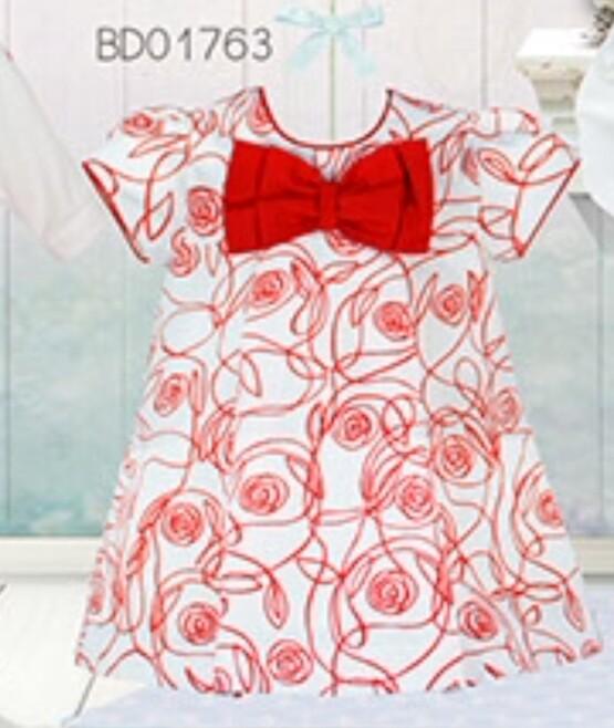 Pretty Originals Red and Cream Dress BD01763
