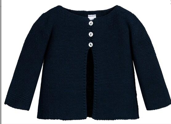 Babidu Baby Navy 100% Cotton Cardigan