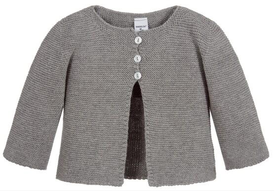 Babidu Baby  Grey 100% Cotton Cardigan