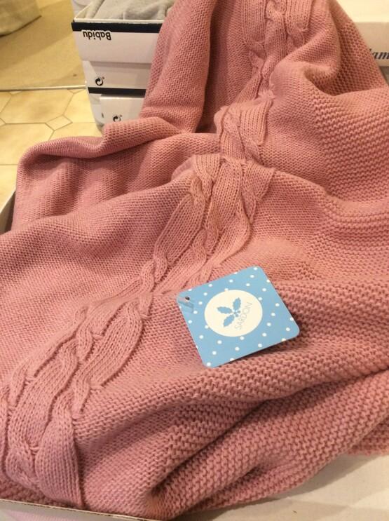 Sardon Blush Pink Knit Baby Blanket