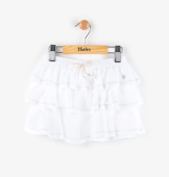 Hatley White Ruffle Skirt