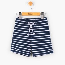 Hatley Navy Striped Mini Pull on Shorts