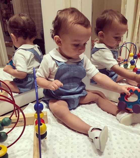 Babidu Baby Boys Soft Cotton Dungarees is Blue