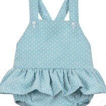 Babidu Baby Girls Green Shortie Romper
