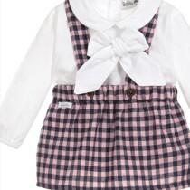 Babidu Baby 2 Piece Pink Check Set – Shirt and Blouse