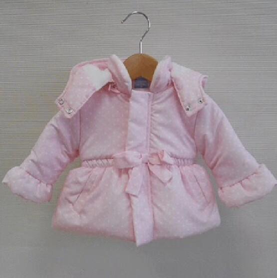 Sardon Pink Polka Dot Coat with Hood