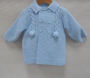 Sardon Blue Knit Jacket