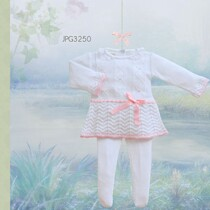 Pretty Originals White Knitted Dress and Tights Set