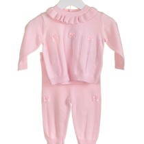 Blues Baby 100% Cotton  Knitted Pink Set