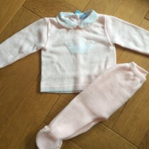 Sardon Pink 2pc  Knit Set with Crown
