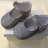 Pretty Originals Grey Leather Mary Jane Shoes