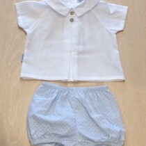 Babidu  2 Piece Shirt & Shorts Set – blue dots